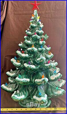 Vintage Ceramic Christmas Tree 25 Tall