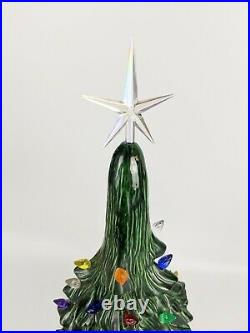 Vintage Ceramic Christmas Tree 32 inch Giant Holland Mold Rare Old Green Works