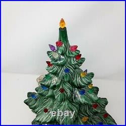 Vintage Ceramic Christmas Tree ATLANTIC MOLD 16 Lighted Signed xtra lights 1970