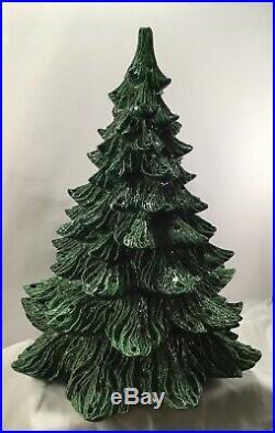 Vintage Ceramic Christmas Tree & Base Extra Large Detailed 21.5 x 16 Nowells