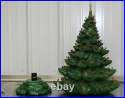 Vintage Ceramic Christmas Tree MEGA LIGHTS 24 Tall Atlantic Mold Star