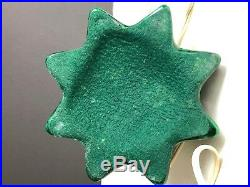 Vintage Ceramic Christmas Tree Musical Silent Night Green 15 Inch Light Up