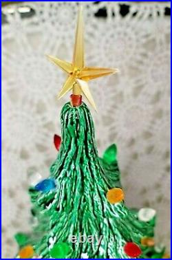 Vintage Ceramic Christmas Tree Nowell HUGE 4 Piece Stunning 21 Tall Excellent