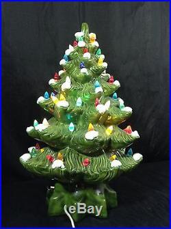 Vintage Ceramic Christmas Tree W Music Box 16 Rare