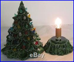 Vintage Ceramic Hand Painted 8 Tall Colorful Christmas TreeHolland Mold Co