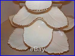 Vintage Ceramic Ivory withGold Trim Christmas Tree 17High (6 Pieces)