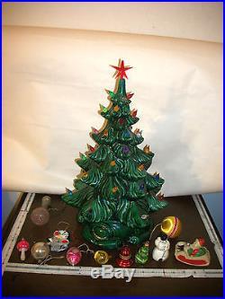 Vintage Ceramic Lighted Christmas Tree 2 Piece (1983)