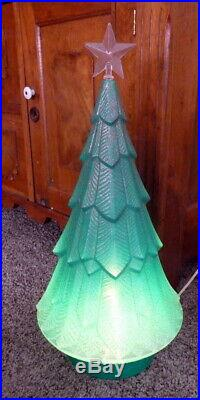 Vintage Christmas Beco Blow Mold Tree 19 No. 928 Rare