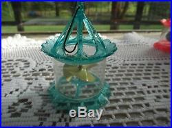 Vintage Christmas Bird Cage Spinner Twinkler Christmas Tree Ornament SET OF 4