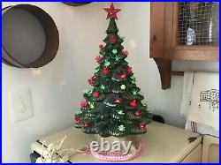 Vintage Christmas Ceramic Tree 19 inches