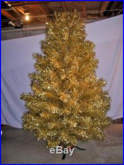 Vintage Christmas Decoration Aluminum Christmas Tree 7 Ft Supreme Gold