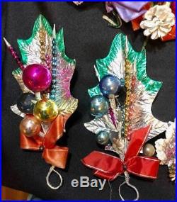 Vintage Christmas Decoration Ornament LOT UNIQUE Wedding Use Tree