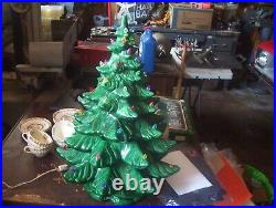 Vintage Christmas LARGE Ceramic Tree 23 1/2 Inches Tall (4) Piece Atlantic Mold