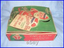 Vintage Christmas Noma Santa Light Up Tree or Wall Decoration Light Boxed. WORKS