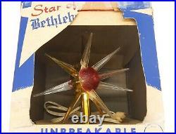 Vintage Christmas Star of Bethlehem Unbreakable Tree Topper Bradford 1950s