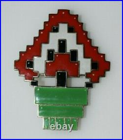 Vintage Christmas Tree Cubist Art Deco Brooch Jewelry Silver Germany 1930