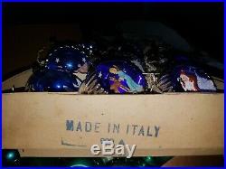 Vintage Christmas Tree Diorama Ornaments Italian Boxed Set 9/10 Condition IOB