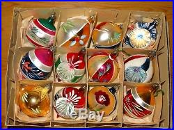 Vintage Christmas Tree Glass Concave Baubles/hanging Ornaments Xmas