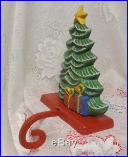 Vintage Christmas Tree Mantel Hook Stocking Holder Hanger Super Giant & Heavy