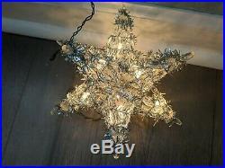 Vintage Christmas Tree Topper 3-D Italian Bulb Lights Kurt Adler WORKS! 7