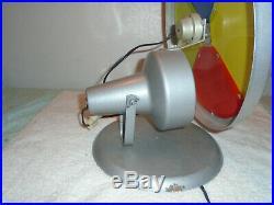 Vintage Christmas aluminum tree color wheel Light Motor metal Stand