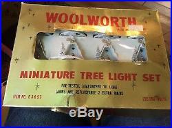 Vintage Christmas lights. Very rare Woolworths nativity scene fairy/tree light