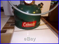 Vintage Coleman Christmas tree lantern single mantle 200A dated 12/51