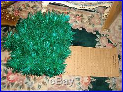 Vintage Collectible Green 7 FT Stainless Aluminum Holiday Christmas Tree