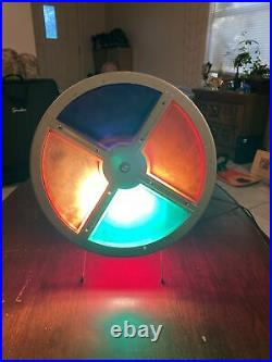 Vintage Color Roto Wheel for Aluminum Christmas Tree withred Base