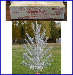 Vintage Complete 1960s ALUMINUM CHRISTMAS TREE WONDERLAND 5½ ft CANADA 45 branch
