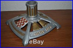 Vintage Croatian Crest Merry Christmas Tree stand cast iron metal Sretan Bozic