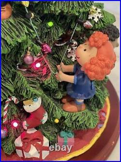 Vintage Danbury Mint The Peanuts Christmas Tree Lights Up