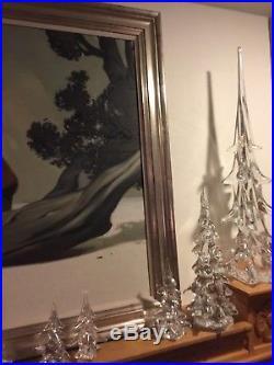Vintage Daum 16 Large Crystal Christmas Tree, EUC