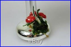 Vintage De Carlini Mercury Glass Christmas 6 TREE w Mushrooms Ornament Italy