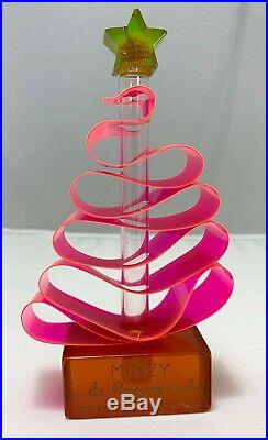 Vintage De Raymond Mimzy Perfume Bottle Ribbon Christmas Tree Bakelite Neon