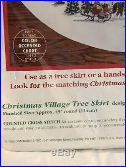 Vintage Dimensions Christmas Village Tree Skirt Cross Stitch Kit Wysocki #8472