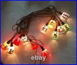 Vintage Disney Christmas Mickey Mouse Tree Lights WORKING Mazda like Pifco