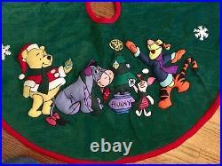Vintage Disney Corduroy 48 Winnie the Pooh and Friends Christmas Tree Skirt