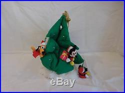 Vintage Disney Disneyland Lite Up Plush Christmas Tree Hat Mickey Donald Goofy