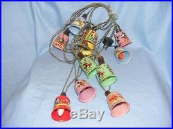 Vintage Disney Mazda Christmas Mickey Mouse Plastic Tree Lights Bulbs WORKING