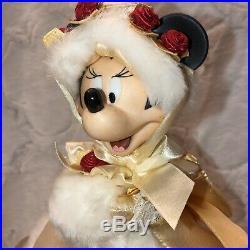 Vintage Disney Minnie Mouse Victorian Dress Christmas Tree Topper Porcelain