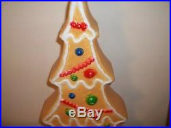 Vintage Don Feathersone Blowmold Gingerbread Christmas Tree Lawn Ornament