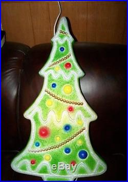 Vintage Don Featherstone 29 Gingerbread Green Christmas Tree Blow Mold Light Up