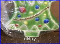 Vintage Don Featherstone Gingerbread Green Christmas Tree Blow Mold Light Up New