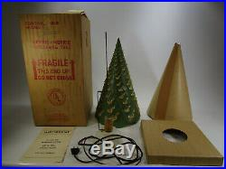 Vintage ECONOLITE CHRISTMAS TREE spinning LAMP BOX PAPERS xmas heat sparkle 1951