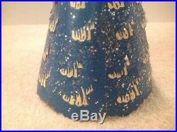Vintage ECONOLITE ROTO-VUE Merrie-Merrie BLUE Christmas Tree with Box Model XM