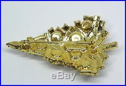 Vintage EISENBERG ICE Christmas Pin Brooch Sparkling Prong Set Rhinestone Tree