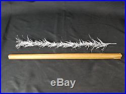 Vintage EVERGLEAM 6 Ft 94 Branch Aluminum Xmas Tree complete Mid Century