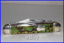 Vintage Enderes 4 Blade Cattle Knife, Christmas Tree Handles