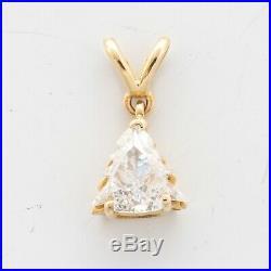 Vintage Estate 14k Yellow Gold Christmas Tree Shape Diamond Pendant 0.50ctw